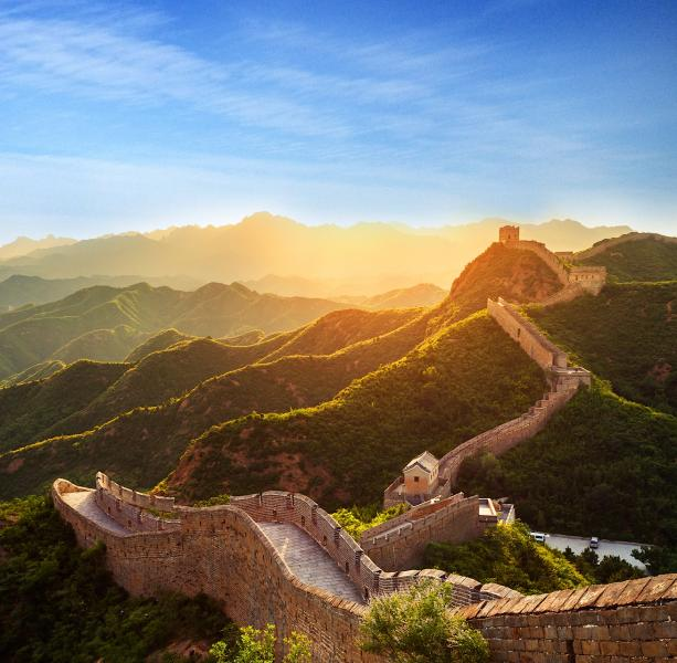 china_great_wall_under_sunshine_during_sunset_ppc_4