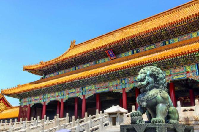 chinabeijingforbiddencitylionstatue